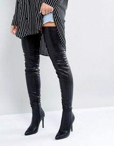 e09ffe4179c Steve Madden Kristen Over The Knee Boots Black High Heels