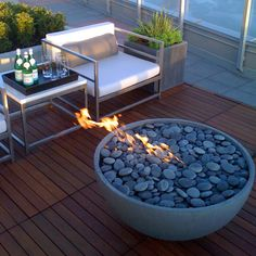 "Another option for fire pit filler - Beach Pebble -  I'd use  1/2 -1"" Beach Pebble in Buff"