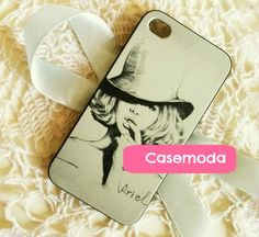 New Pencil Picture Chic Lady iPhone 5 Hard Case Cover