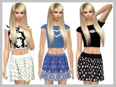 Skirts Set by SweetDreamsZzzzz at TSR via Sims 4 Updates