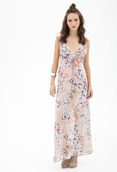 Watercolor Floral Cami Maxi Dress | FOREVER21 - 2052988035