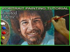 Acrylic Portrait Painting of Bob Ross in Step by Step Tutorial by JM Lisondra - YouTube