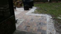 Paver Patio and Walkway completed