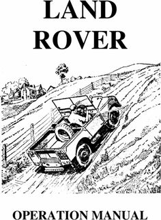 #LandRover : Workshop Manuals / Operation Manuals for download