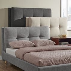 Dallan Queen Size Plush Tufted Padded Headboard and Bed by iNSPIRE Q Modern