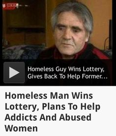 """""""László Andraschek, of Hungary, was on his way to a workshop for recovering alcoholics back in September, when he decided to spend his last coins on a lottery ticket. Expecting the same bad luck and disappointment that had befallen him his whole life, he was shocked to discover he won the equivalent of about $2.8 million.  Do you know someone who won the lottery and used his money for a good cause? Share his story with us"""