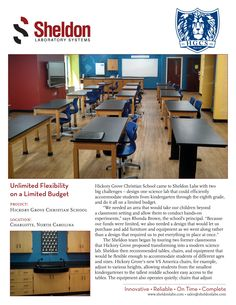 """""""Unlimited Flexibility on a Limited Budget"""" Hickory Grove Christian School, Charlotte, North Carolina"""