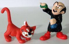 1980 And 1991 Peyo Schleich Smurfs Gargamel And Azrael Cat PVC Figures #Schleich