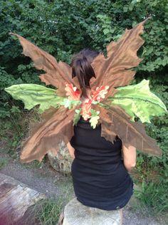 Adult woodland leaf fairy wings on Etsy, £60.00