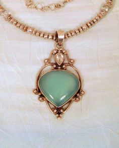 Green Jade in Gold. // GORGEOUS! !! A