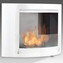Eco-Feu OLYMPIA Wallmount Ethanol Fireplace - Gloss White