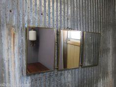 Corrugated aluminum wall