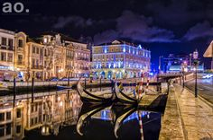 The Aveiro lagoon (Ria de Aveiro) is a lagoon in Portugal. It is located on the Atlantic coast of Portugal, south of the municipality of Espinho and north of Mira (to the north of the Cape Mondego). Its average area covers approximately 75 km².