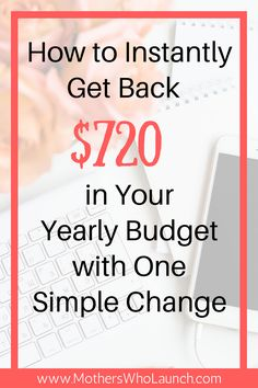 Looking for budget tricks? Want to save more money and brag in your income reports? Here's how I instantly got $720 in my yearly budget that anyone can do.
