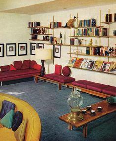 60s Living Room | Remarkably Retro, 1950s living room design