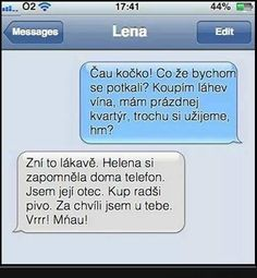 Lena a Helena jakože cože. Funny Images, Funny Pictures, Some Jokes, Haha, Comedy, Messages, Memes, Quotes, Pranks