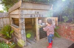 Make as open as possible. use upcycled pallets. incorporate daughters diner into cubby.