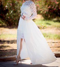 white crotchet lace maxi dress