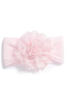 Baby Bling Lace & Chiffon Flower Headband (Baby Girls) available at #Nordstrom