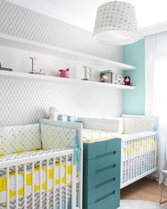New Baby Boy Decorations Nursery Changing Tables 29 Ideas Twin Baby Rooms, Baby Bedroom, Baby Room Decor, Kids Bedroom, Nursery Twins, Nursery Room, Boy Room, Twin Cribs, Twin Beds