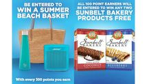 """WIN a Summer Beach Basket or FREE Sunbelt Products!! June Prizes: We're giving our BFFs lots of opportunities to win exciting prizes. Spread the word, earn points, and win great stuff! It's that easy. Win a Summer Beach Basket! Win any two Sunbelt Bakery Products! Anyone who earns at least 100 points this month … Continue reading """"WIN a Summer Beach Basket or FREE Sunbelt Products!"""""""