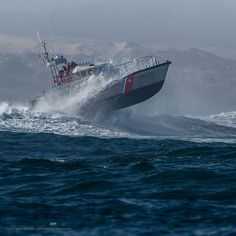 Coast Guard 47 foot Motor Lifeboat practicing in the big surf  http://www.flickr.com/people/mikebaird/#credit