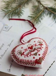 Thrilling Designing Your Own Cross Stitch Embroidery Patterns Ideas. Exhilarating Designing Your Own Cross Stitch Embroidery Patterns Ideas. Swedish Christmas, Christmas Hearts, Scandinavian Christmas, Christmas Cross, Country Christmas, All Things Christmas, Christmas Ornaments, Xmas, Christmas Tree