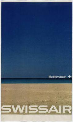 Manfred Bingler. Swissair - Mediterranean. 1964