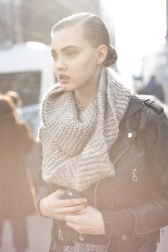 who says a garter stitch scarf is boring?