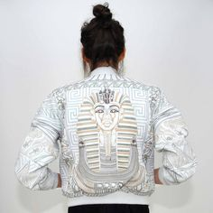 Vintage Egyptian Embroidered Leather Bomber | Grave Robbers Vintage on Etsy.