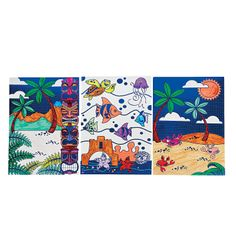 Color Your Own Tropical Foil Posters - OrientalTrading.com Great for a craft!