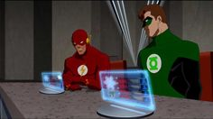 Hal Jordan and Barry Allen Young Justice Solangelo, Drarry, Dc Comics, Dc Comic Costumes, Flash Barry Allen, Monica And Chandler, Green Lantern Hal Jordan, Spideypool, Teen Titans Go