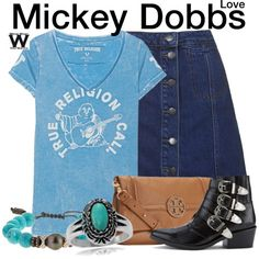 Inspired by Gillian Jacobs as Mickey Dobbs on Love.