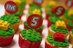 Lego cupcakes-Asher is Five! | Flickr - Photo Sharing!