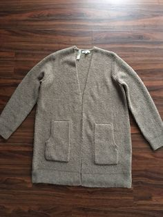 Madewell Wafflestitch Cardigan Sweater Size Medium Taupe Color NWT.   fashion  clothing  shoes 228898d99