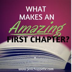 What Makes an Amazing First Chapter?