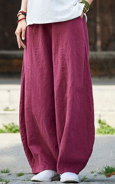 Women Knickerbockers Loose Autumn Linen Pants