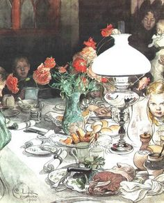 At the Table, by Swedish Artist, Carl Larsson