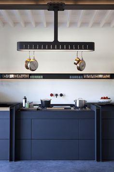 Kitchen designed by Roderick Vos at Chateau de la Resle France