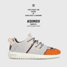 new product ed6b6 d7cdb Kanye West x James Warner custom - Adidas Yeezy 350 boost x ASIIMOV