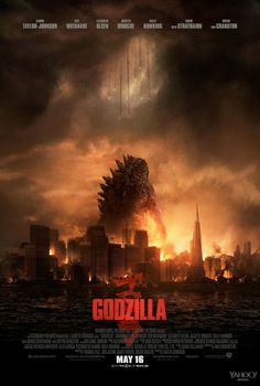 Poster of the yet to release 'Godzilla' starring Bryan Cranston among others