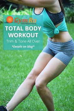 A total body workout using compound exercises!   The best exercises for a lean, sexy, and fit body are big, compound movements that recruit a lot of muscle mass.   Compound exercises will also help you build a better body at a faster rate than if you used isolation exercises. Click the image to see the entire workout!