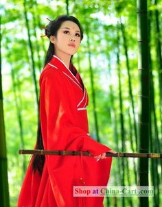 Traditional Chinese Red Hanfu Clothing Complete Set rental set traditional buy purchase on sale shop supplies supply sets equipemnt equipments Traditional Chinese, Traditional Outfits, Ancient China Clothing, Korean People, Costume Shop, International Fashion, China Fashion, Hanfu, Writing Inspiration