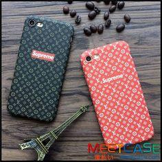 ヴィトン シュプリーム iphone8ケース コラボ lv supreme iphone7s iphone7ケース ジャケット型 ハードケース