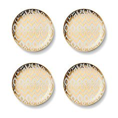 Love this Gold Ikat Dessert Plates (Set of 4) for $48 on C. Wonder