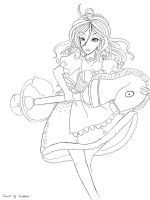 Alice Madness Return Lineart 02 by Cocolinkaa