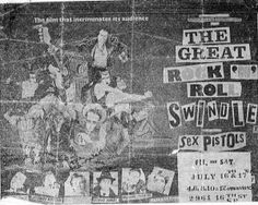 Great Rock'n'Roll Swindle at the Victoria Theater, third generation photocopy