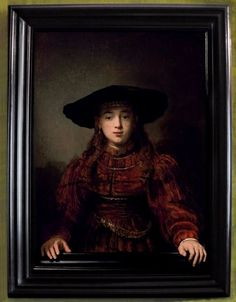 The Girl in a Picture Frame or The Jewish Bride (Rembrandt van Rijn).