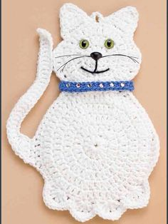 Snowball the cat pattern de Marianne Bruneau - Nese - . - Snowball the cat pattern de Marianne Bruneau – Nese – # Patrón de gato # Mariann - Crochet Applique Patterns Free, Crochet Cat Pattern, Cat Applique, Crochet Motif, Crochet Stitches, Cross Stitches, Loom Patterns, Crochet Gifts, Crochet Toys