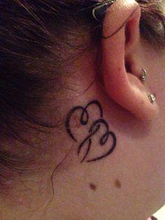 Behind the ear tattoo! Tattoos 2014, Baby Tattoos, Word Tattoos, Life Tattoos, Tattoos Pics, Heart Tattoos, Tatoos, Small Quote Tattoos, Small Tattoos With Meaning